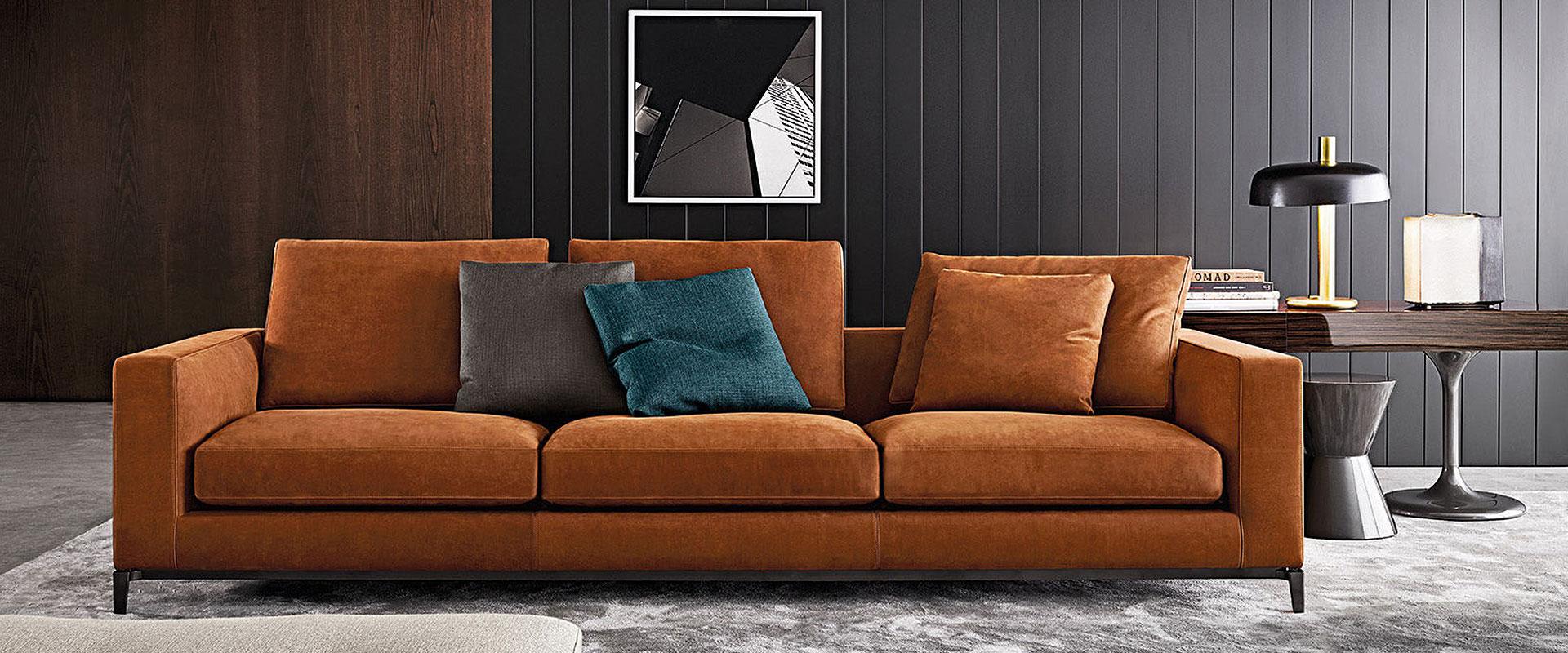 Das Sofa Andersen von Minotti finden Sie bei Hans G. Bock.