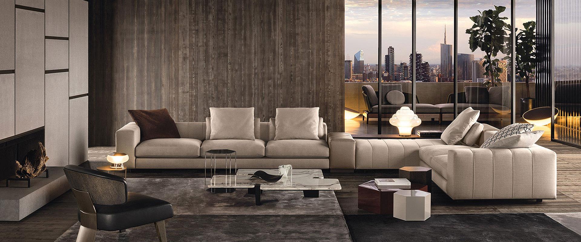 Das Freeman Sofa von Minotti finden Sie bei Hans G. Bock.