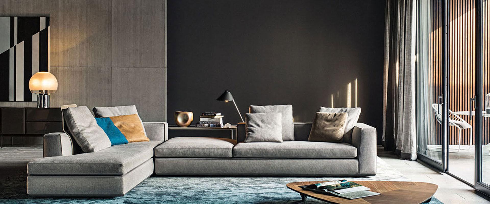 Das Sofa Powell von Minotti finden Sie bei Hans G. Bock.
