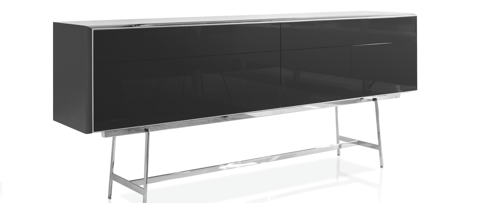 Die Serie S100 von YOMEI bei Hans G. Bock: Sideboard in Schwarz.