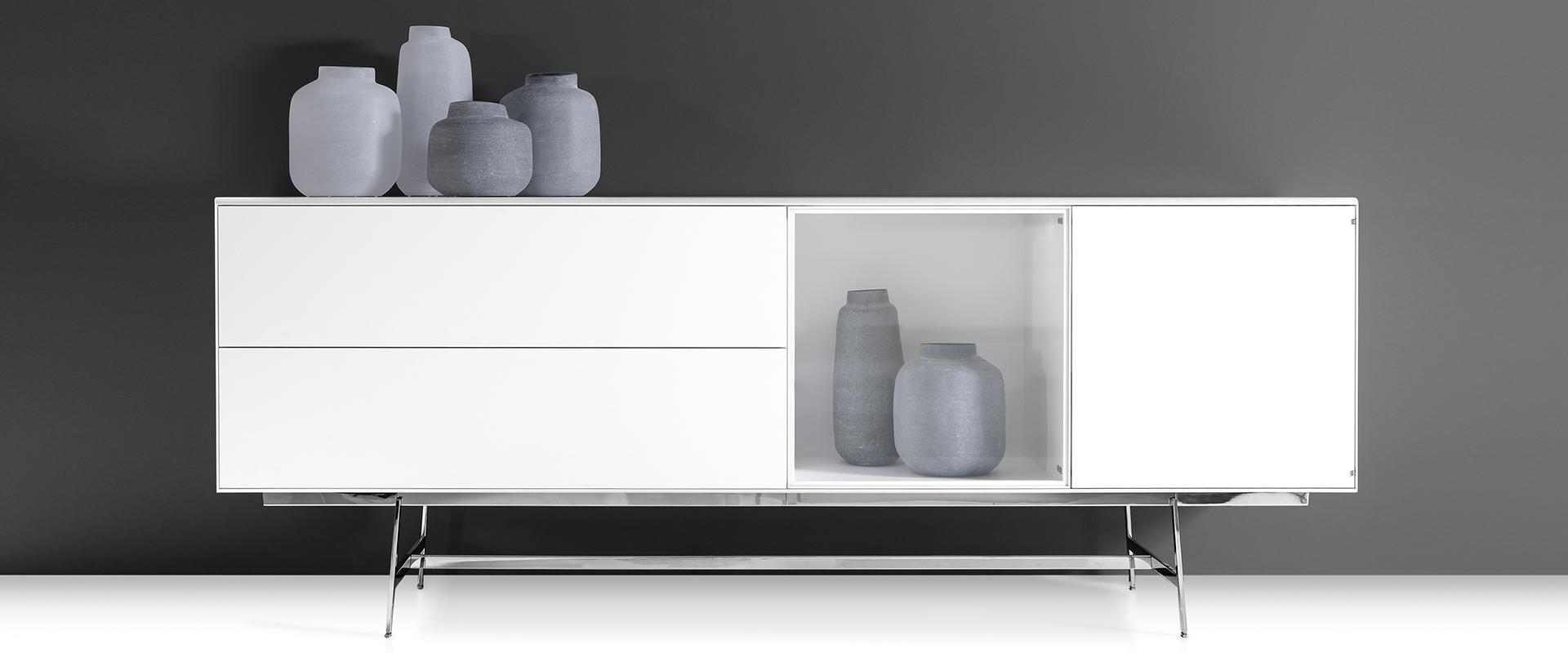 Die Serie S100 von YOMEI bei Hans G. Bock: Sideboard in Weiß.