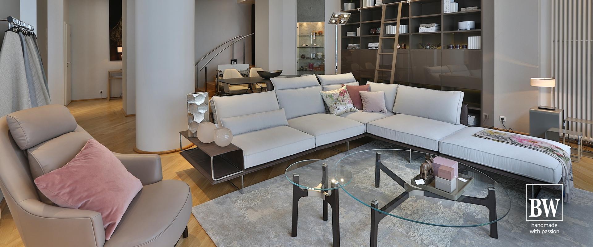 Im BW-Studio Hannover by Hans G. Bock finden Sie das Sofa Cube Air von ipdesign.