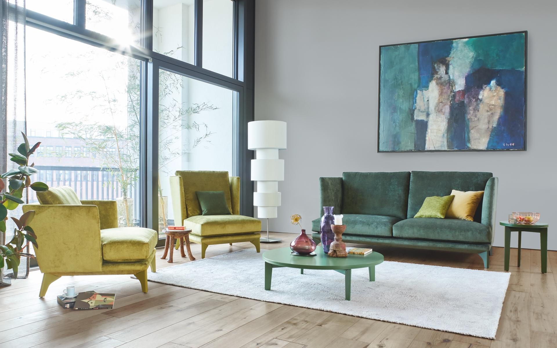 Die Sessel und das Sofa Polo Lounge von BW Bielefelder Werkstätten finden Sie im BW-Studio Hannover by Hans G. Bock.